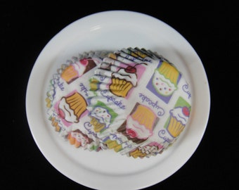 Cupcake Print Mini Cupcake Liners, Mini Baking Cups, Mini Muffin Papers, Mini Candy Paper, Cake Pop Papers, Truffle Cases  - QTY. 25