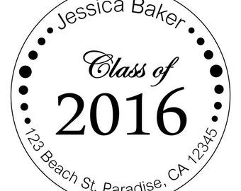 graduation stickers, personalized graduation stickers, high school or college stickers, class of 2016 stickers