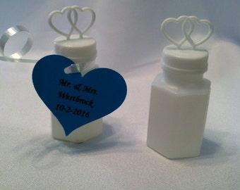 Personalized bubble wedding favors