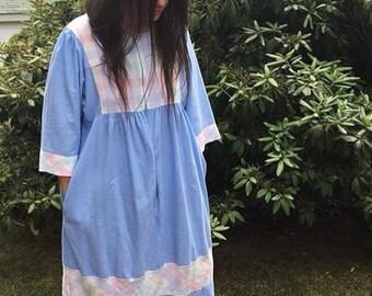 SALE Soft Cotton Zip Front House Coat Dress OS