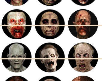 Zombie Magnets Pins, Zombie Party Favors