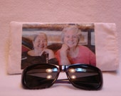 PERSONALIZED, your PHOTO on  fabric sunglass/eyewear CASE, Custom Made and Reversible