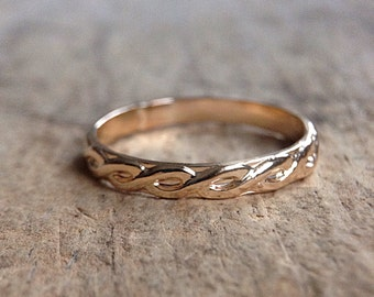 SIZE 8.25 - Gold Infinity Ring, Gold Ring, 14K Gold Fill, Gold Stacking Ring, Stackable Rings, Pattern Ring, Bohemian Ring, LAST ONE!