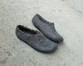 Women slippers - women house shoes, felted slippers, Organic, handmade, made to order, Valentine's day gift