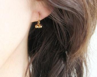 Dewdrops 18K gold earrings