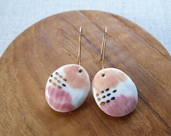 Yuyake Sun Set Hook Earrings