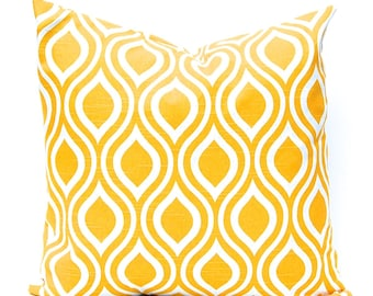 Yellow Pillow Cover, Decorative Throw Pillow Cover, Yellow Cushion Cover, Beach Decor, Nautical Decor