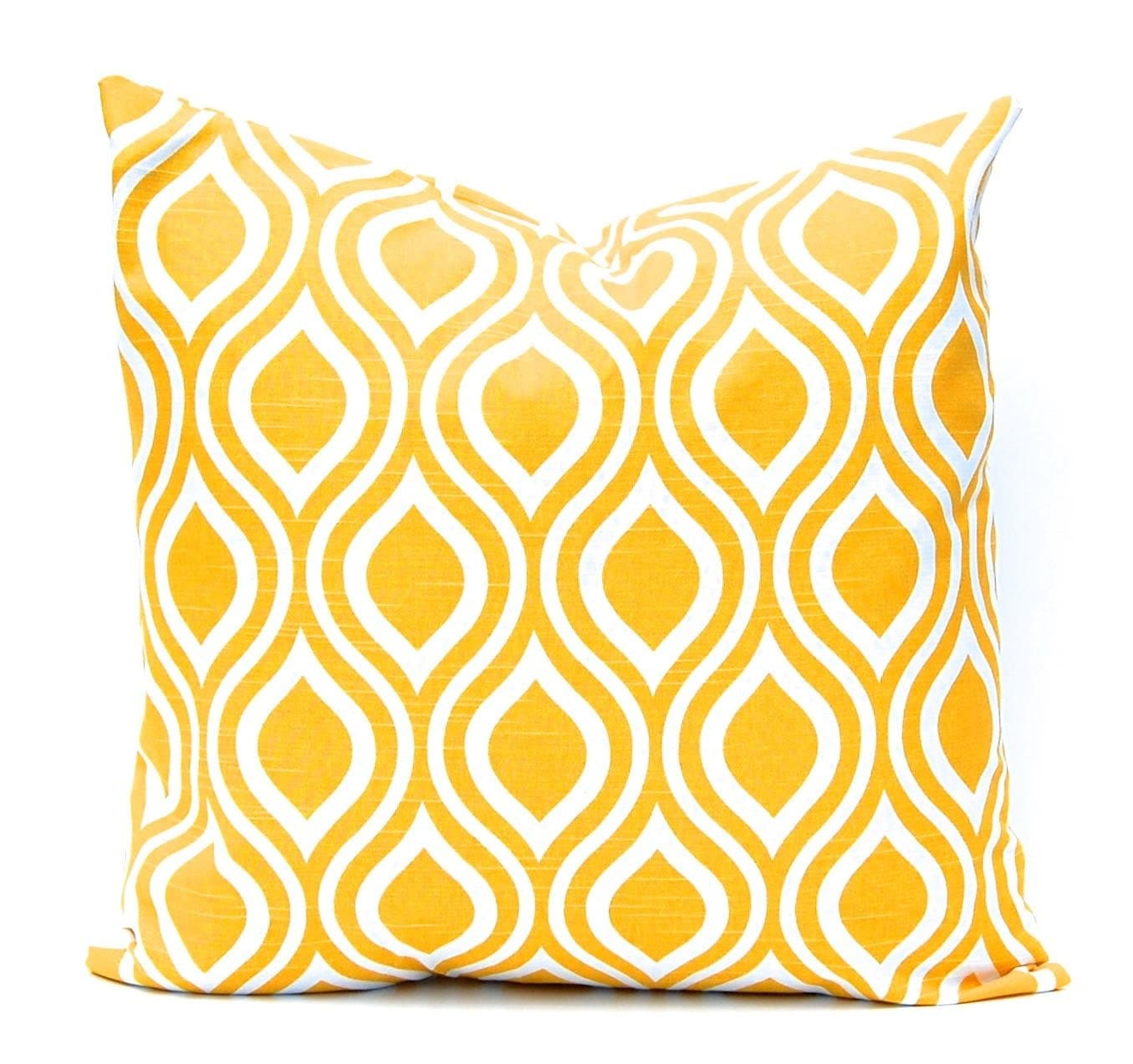 Yellow Decorative Pillows For Bed : Yellow Pillow Cover Throw Pillow Cover Yellow Bedding