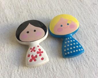 Avon perfume pin  perfume brooch  girl pin brooch