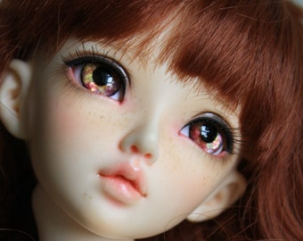 BJD eyes Doll eyes Hand made available in 12/14/16/18/20/22/24mm Spiced Apple made to order