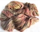 Lothlorien BFL/ Silk Lace Yarn. Rose In The Earth