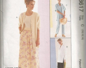McCall's 8617 Sew New Pattern Misses, Shirt, Pants and Skirt Pattern SZ 10-14