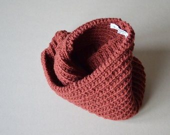 Handmade Chunky Neck warmer Russet Infinity Scarf Winter Accessories Unisex