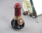 Poison Pen Letter Ink - Raven Black - Skull Adorned
