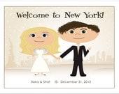City Skyline Wedding Welcome Bag Notes, Wedding Welcome Letter, Wedding Gift Bag Letter, Wedding Welcome Notes, Welcome Bag Letter