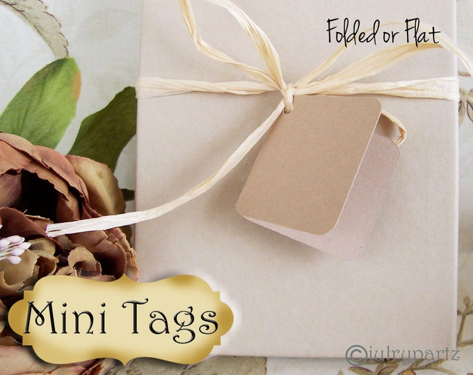 30•MINI TAGS #3 • 1.5 X 1.5 inch•Necklace Tags•Bracelet Tags•Price Tags•Clothing Tags•Favor Tags•
