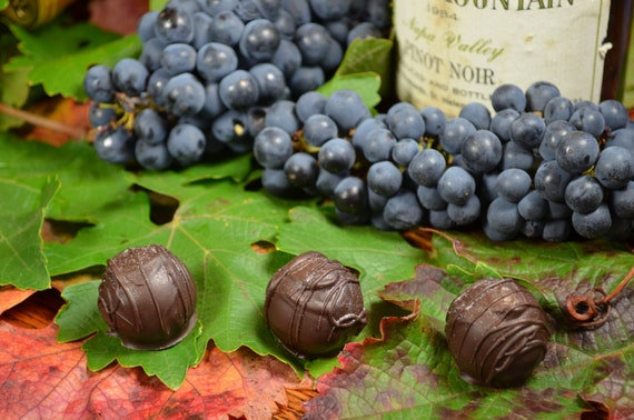 Chocolate Truffles, Pinot Noir, Wine Truffles, Dark Chocolate Truffles, Wine Chocolate, Chocolate Wine, Gifts for Him, Hostess Gift