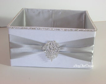Wedding Box, Bling Program Box, Bubble Box, Wedding Basket  - Custom Made
