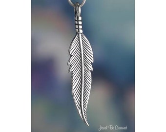 Sterling Silver Large Feather Charm Feathers Native American Solid 925