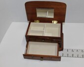 RESERVED - Vintage  Woooden Jewelry Box