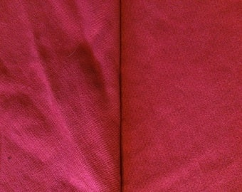 2 YARDS Heavy Tomato Red Soft Cotton Twill Renaissance SALE Elizabethan material fabric SCA pillows Christmas stockings sewing Cosplay F13