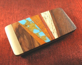 Turquoise Money Clip - Husband Gift Ideas for Him - Father's Day Gift for Men MC233