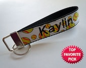 Softball Key Chain Wristlet or Bag Tag PERSONALIZED with your name and favorite sport ribbon