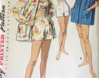 "Vintage Simplicity Pattern 1659 Size 18 Misses Bust 36"" Three-piece Playsuit"