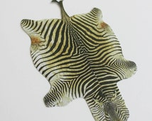 Miniature Zebra Hide Rug for Dollhouse in One Twelfth Scale