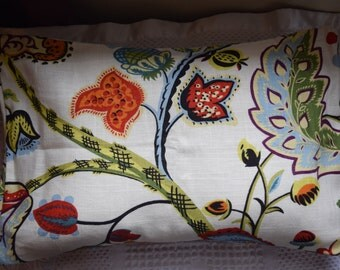 Floral Linen Pillow cover