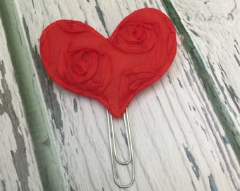 50% off!! Plush Heart planner clip