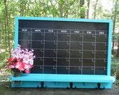 Large Chalkboard Calendar/ Message Board/Office Decor/Kitchen Decor/Family organizer