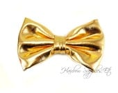 Gold Soft Metallic Bows 3 inch - Hair Bows, Baby Bows, Baby Girl Bows, Baby Hair Bows, Hair Bows for Girls, Hair Bows for Toddlers