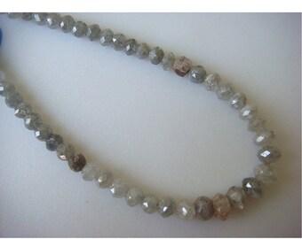 50% ON SALE Diamond Beads, Rough Diamonds, Natural Diamonds, Raw Diamond Faceted Beads, 10 Beads, Approx 3mm Each