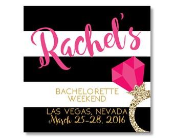 Bachelorette Sticker, Bachelorette Party Sticker, Bachelorette Bag Sticker, Wedding Welcome Sticker, Wedding Favor Sticker Gable Box Sticker