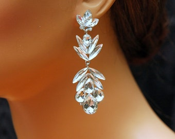 Crystal Chandelier Bridal earrings, Crystal Wedding Earrings, Wedding Jewelry, Wedding Accessory, Prom Accessories