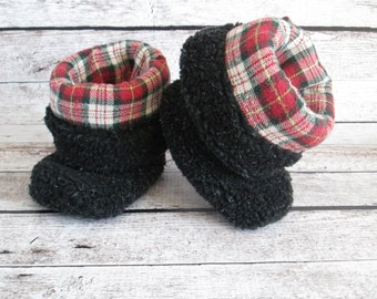 Up-Cycled Baby Slipper Booties...Size 12 Months