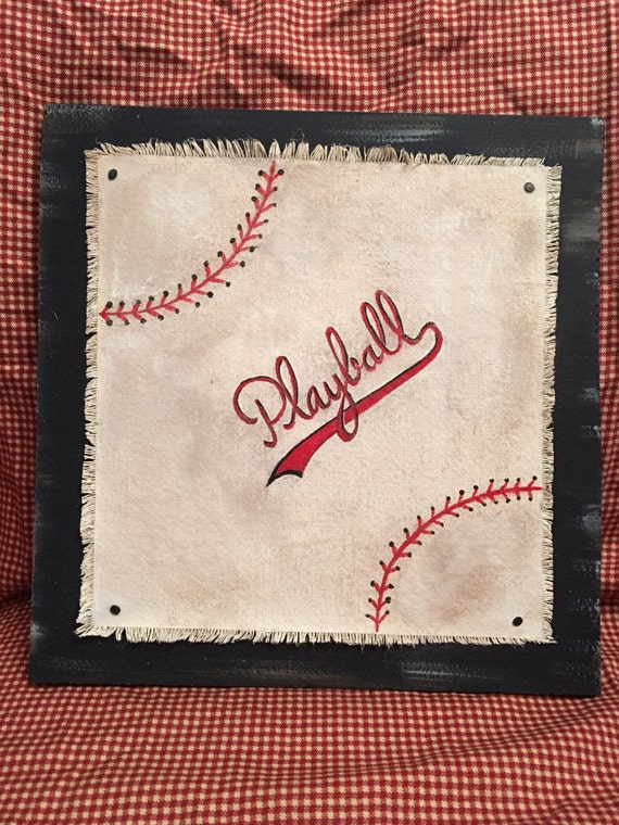 Vintage Baseball Wall Decor : Vintage look baseball wall decor