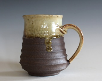 Ceramic Mug, 16 oz, handmade ceramic cup, handthrown mug, ceramic stoneware, pottery mug, unique coffee mug, ceramics and pottery