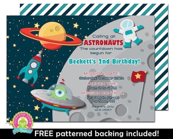 astronaut invitations - photo #17