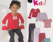 Boho Girls Top Shirt Flared Pants Pattern Several Styles Girls Size 3 - 8  Uncut New Look 6337