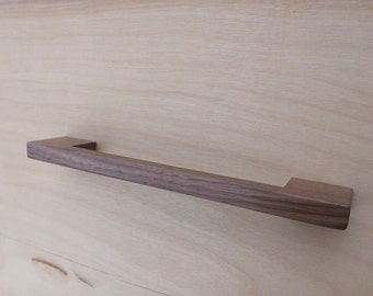 Contemporary Walnut Wood Cabinet Pull