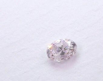 Natural Pink Diamond. Conflict-Free. Mined in Australia. FREE FedEx. Faint Purplish Pink. Si2. 1 pc. 0.24 cts. 3.0x4.1mm  (Dia221)