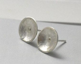 Textured Silver Stud Earrings, FREE Shipping, Round Silver Earrings, Sterling Silver Earrings, Australian Jewellery, Simple Earrings