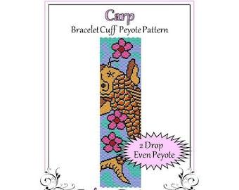Bead Pattern Peyote(Bracelet Cuff)-Carp