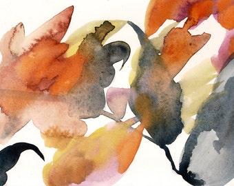 "Always Full, 10.25 x 7"", original watercolor on paper"
