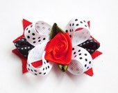 Yorky Dog Bow Red Rose