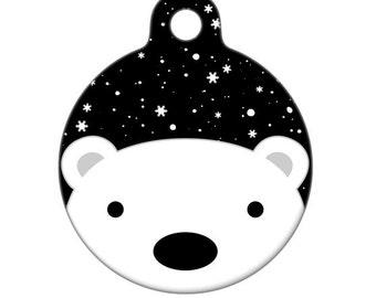 Pet ID Tag - Polar Bear Pet Tag, Dog Tag, Cat Tag, Luggage Tag, Child ID Tag