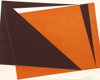 Orange Rectangles by Cris Cristofaro, Silkscreen, 1978