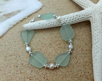 Sea Glass Bracelet, Sea Glass Jewelry Seaglass Bracelet Wedding Jewelry Wedding Bracelet Bridal Bracelet Bridesmaid Bracelet Beach Glass 028